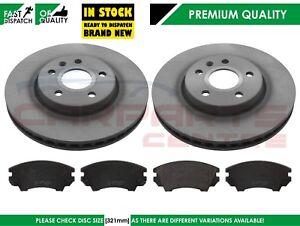 Pour-Vauxhall-INSIGNIA-1-6-T-2-0-T-2-0-CDTi-08-14-DISQUES-DE-FREIN-AVANT-PADS-SET-321-mm