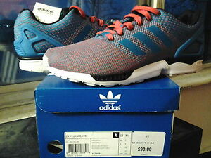 size 40 5bc9a 84b6e Details about Adidas ZX Flux Weave Torsion Red Sole Blue White running xeno  drose samba M29091