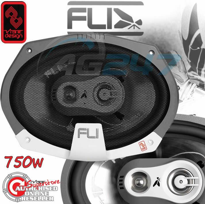 FLI Audio Integrator 69 6x9 inch 160mm x 230mm 3-Way Triaxial 375 Watts Car Rear Parcel Shelf Coaxial Speakers Set