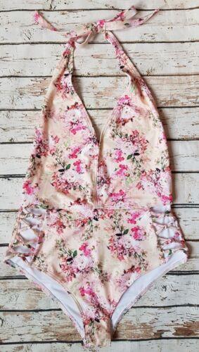 NUOVO Peek /& Beau scollato floreale Halter Costume da Bagno in Multi SE23 Costumi da bagno