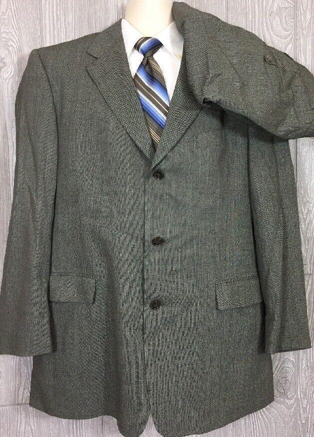 Hart Schaffner Marx Comfort Mens Wool 2pc Suit 42R Pants 37x31 (t3)