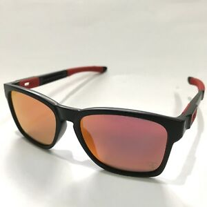 Oakley Sunglasses * Catalyst 9272-07 Ferrari Matte Black Ruby Iridium COD PayPal