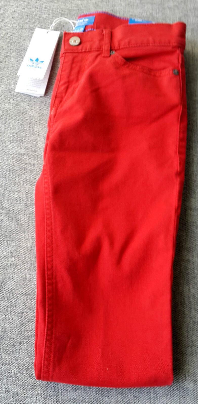 """ADIDAS Originals Womens Super Skinny Fit Jeans Jegging XXS W 25 \""""L 32\"""" Piros Új"""