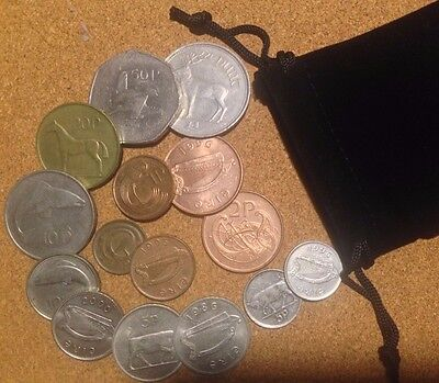Pound Irland Ireland Bag 13 X 1970s to 1990s Irish Decimal Coins Half Penny