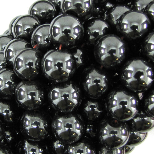 4//6//8//10mm Black Stone Hematite Round Ball Spacer Beads magnetic//non Jewelry DIY