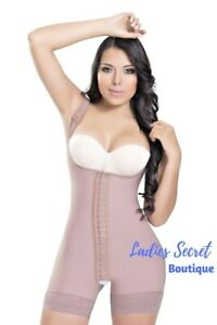 Women-Faja-Colombian-Mid-Thigh-Powernet-BodyShaper-Suit-3-hooks-Body-Sisa-Strap