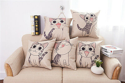 "Anime Chi/'s cat Sofa car Linen Cotton Throw Pillow Case Cushion  18/""//45cm A"