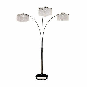 84h 3 crystal inspirational arch floor lamp ebay 84h 3 crystal inspirational arch floor lamp aloadofball Images