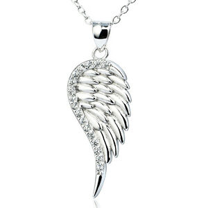 925-Sterling-Silver-Angel-Wing-Crystals-CZ-Bird-Feather-Pendant-Necklace