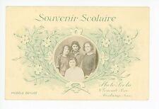 """""""Souvenir Scolaire"""" Girl School Photo RPPC Montrouge Paris Antique CPA 1910s"""