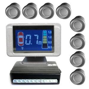 einparkhilfe mit 8 a class sensoren 4 vorne und 4 hinten silber lcd display ebay. Black Bedroom Furniture Sets. Home Design Ideas