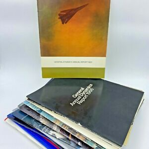 19 Vintage General Dynamics Annual Shareholder Report Photos 60s 70s 80s 90s BK8