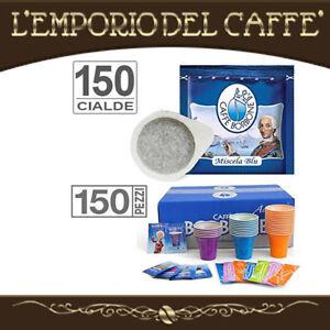 Caffe-Borbone-Miscela-Blu-150-Cialde-carta-Ese-44-mm-kit-accessori-150-pezzi