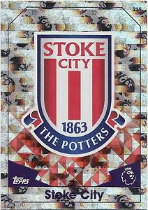 2016 / 2017 EPL Match Attax Base Card (235) STOKE CITY Logo