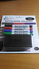4 Rotulador pizarra + borrador azul rojo verde negro rotuladores