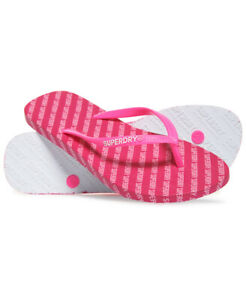 Superdry Womens Super Sleek All Over Print Flip Flops