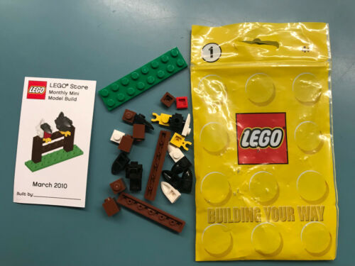LEGO MONTHLY MINI BUILD SET SHOP CARD MODEL 2010 2009 first sets collectors