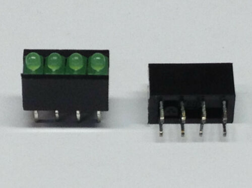 m6544 Green 4 LEDs 2 Piece RTZ 2040g CONTROL LAMP FOR PCB MOUNTING