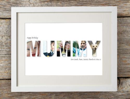 Personalised Happy Birthday Mummy Photo Print Gift Bespoke Unique Mom Mommy