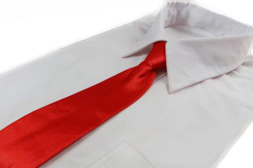 BOYS KIDS BABY TODDLER SCHOOL NECK TIE NECKTIE ELASTIC PLAIN BLACK RED WEDDING
