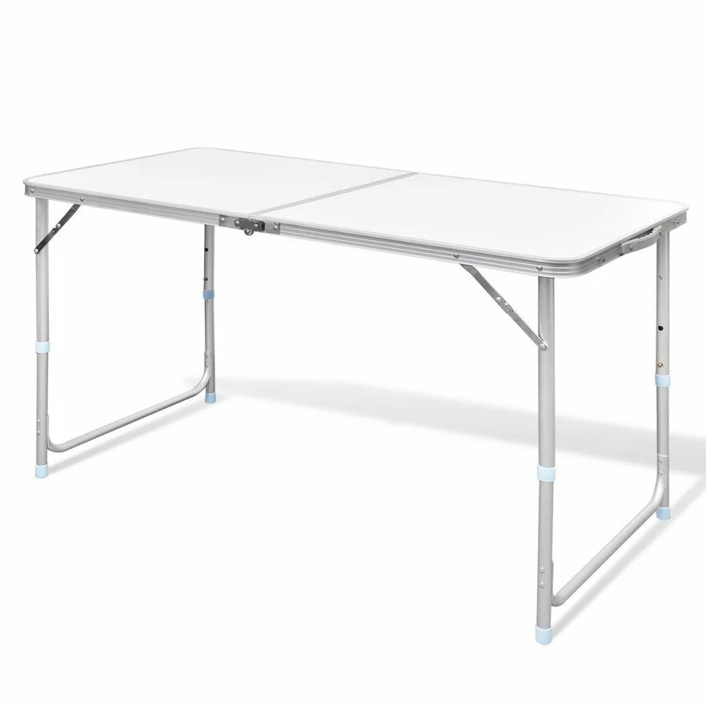vidaXL Mesita Plegable Picnic Portátil 120x60 cm Mesa Camping Jardín Aluminio