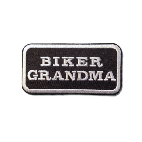 Embroidered Biker Grandma Sew or Iron on Patch Biker Patch