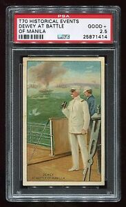 """1887 T70 Historical Events """"Dewey at the Battle of Manilla"""" PSA 2.5 GOOD+"""