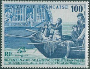 French-Polynesia-1989-Sc-515-SG565-100f-Mutineers-Casting-Bligh-Adrift-MNH