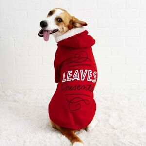 Christmas Sweaters For Dogs.Details About Easy Tiger Leaves Presents Red Christmas Sweater Dog Hoodie 1ezr2094 New Mint