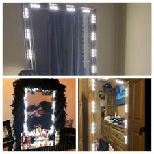 5FT Dressing Mirror Lighted Cosmetic Makeup Vanity LED light white with remote