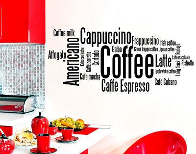 Wall stickers kitchen adesivi murali cucina caff for Stickers murali cucina
