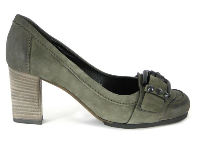 K&S High Heel Oliv Gr. 7,5 / 41  Army Pumps Kennel Schmenger