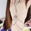 Fashion Femmes Turquoise Multi Chaîne Main Harnais Bracelet Chain Link Finger Ring