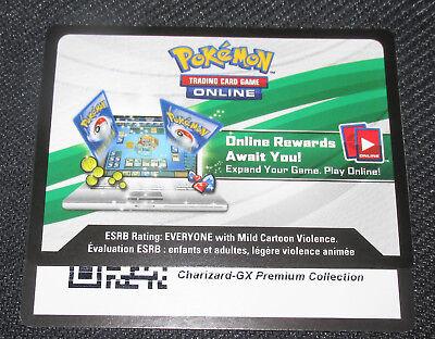 SM60 PTCGO MESSAGED Pokemon Unused Charizard GX Premium Collection CODE CARD
