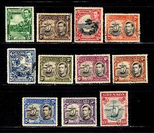 Grenada stamps #132 - 144, mint & used, 1 MNH (2sh), complete set, SCV $54.00