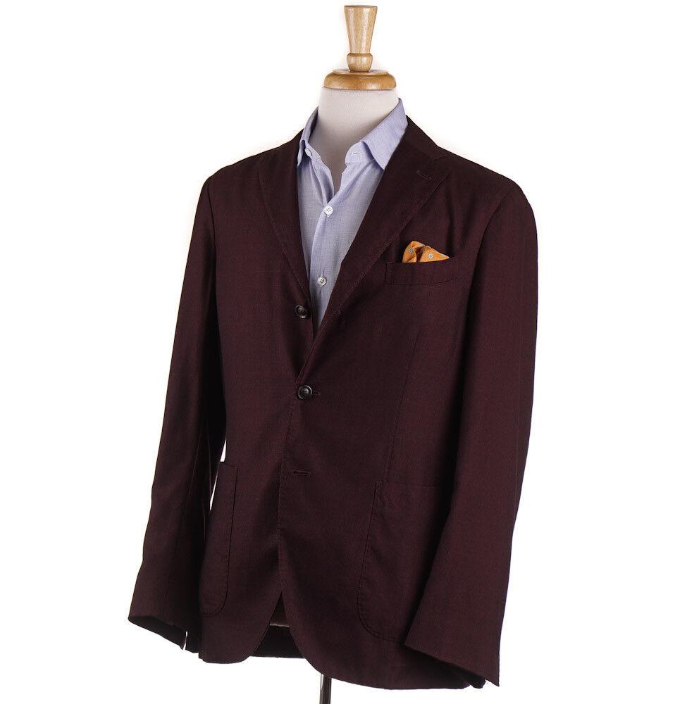 NWT 2975 BOGLIOLI Burgundy Lightweight Cashmere-Silk Sport Coat 40 R (Eu 50)