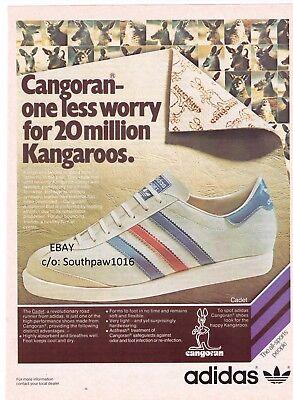 "1977 Adidas ""Cadet"" Running Shoe Vintage Print Advertisement   eBay"