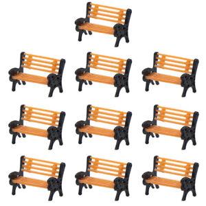 10pcs-Model-Train-1-150-Bench-N-Z-Scale-Model-Chair-Settee-Park-Scenery-YZ150
