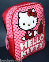 Hello Kitty Girl's Backpack W/ Adjustable Straps & Glitter Trim