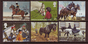 GREAT BRITAIN 2014 WORKING HORSES SET OF 6 FINE USED