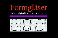 FORMGLAS für alte Armband-Uhren: Kunststoff - TONNENFORM - AUSWAHL Uhrengläser
