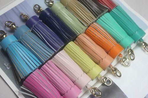 Tassel Pendant Mobile//Bag Key Chains Bag Accessories Handmade Leather Sheepskin