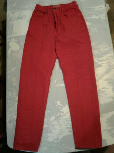 Vintage 1990s Guess Red Jeans Womens Size 26 (cb45