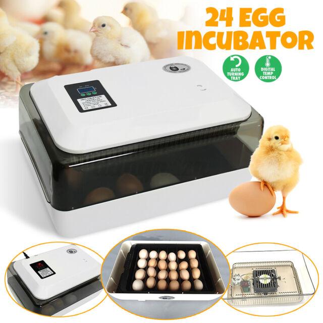 JANOEL Auto-Turning Digital 24 Eggs Incubator Automatic Hatch Chicken Duc