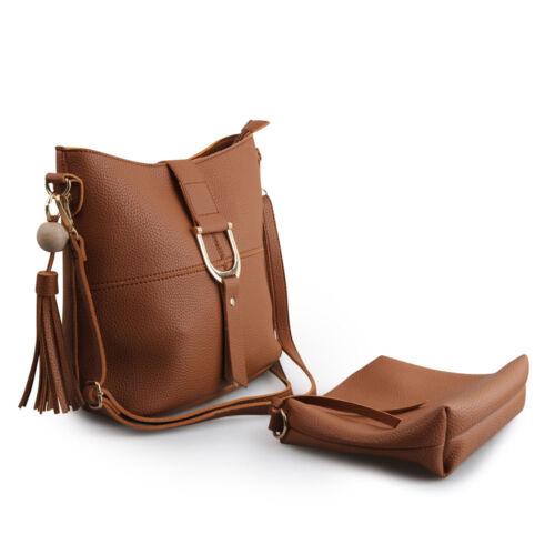New Women Handbag Faux Leather Shoulder Bag Tote Cross Body Satchel Purse