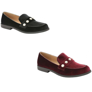 WOMENS-DOLCIS-MEMORY-FOAM-FAUX-SUEDE-FLAT-TAB-LOAFER-MOCCASIN-SHOES