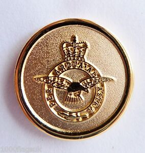 RAF-Royal-Air-Force-Crest-Round-Gilt-Pin-Badge-MOD-Approved-M86