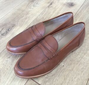 668700a2c25 New JCrew Ryan penny loafers Leather shoes 10 burnished pecan brown ...