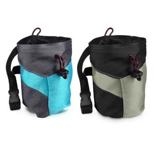 Chalk Bag zum Bouldern Klettern Magnesiabeutel mit Taillengurt Bürstenhalter