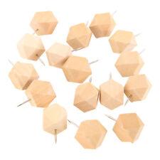 15pcsbox Wooden Thumbtack Board Push Pin Diy Crafts Drawing Photo Wall Studs